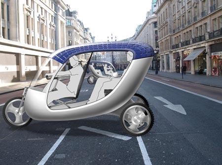 Прототип велотакси на солнечных батараеях
