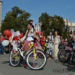 Велопробег невест интервью